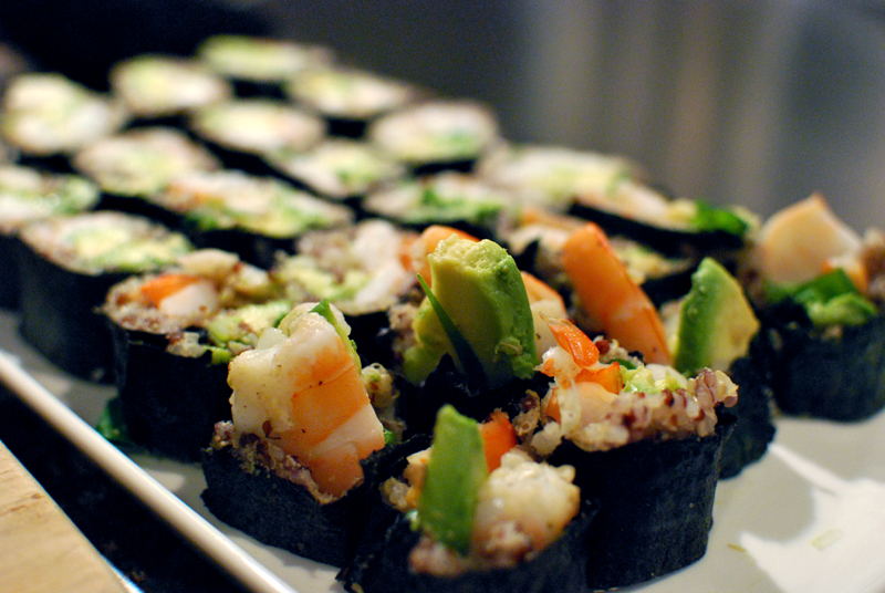 Five Minute Photo Shoot: Quinoa Sushi – One Hundred Eggs
