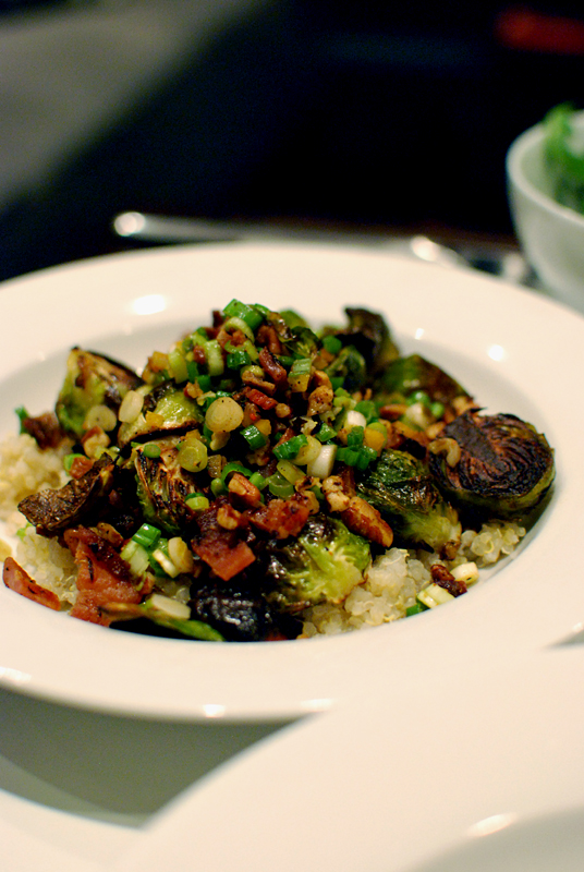 Brussels Sprouts with Bacon, Pecans, and Preserved Lemon