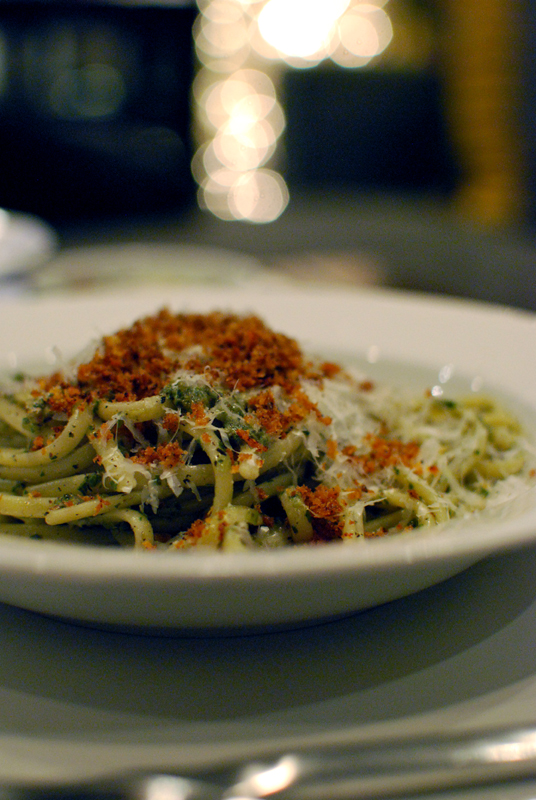 linguine with kitchen-sink pesto