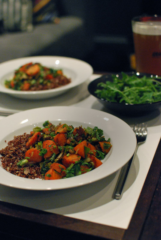 Dukkah-Spiced Carrot Sauté with Red Quinoa