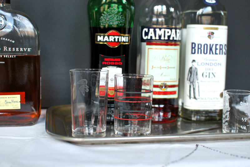 campari + sweet vermouth + booze = love